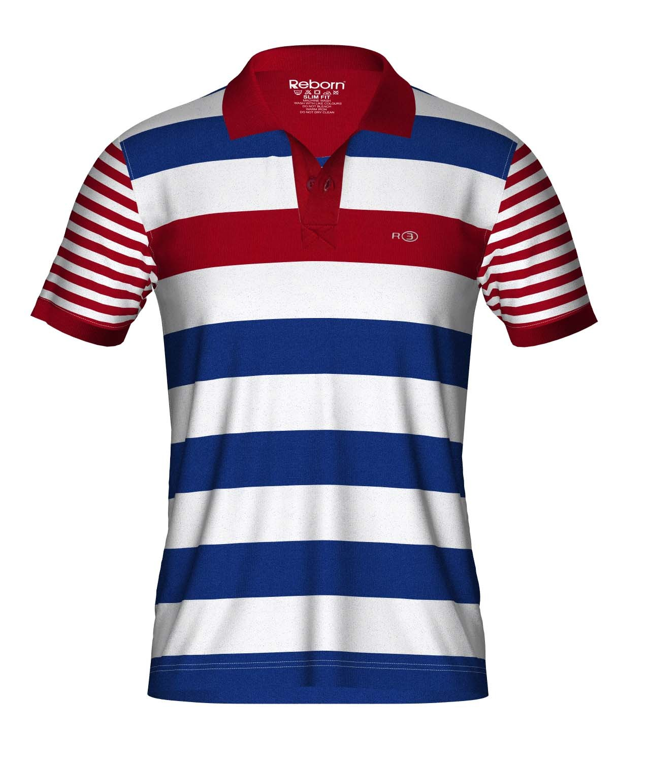 REBORN MENS STRIPE T-SHIRT